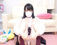 Tiny Japanese Teen Masturbates