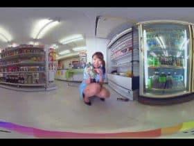 พนังงานสาวขีเงี่ยนเเอบติ้วหีหน้ากล้อง
